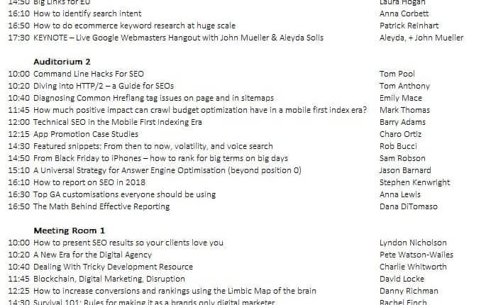 مؤتمر BrightonSEO  الكامل في تهيئة المواقع لمحركات البحث